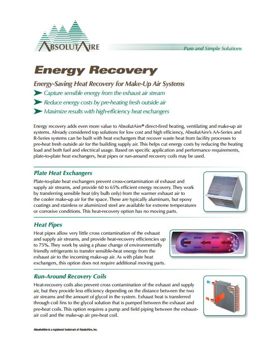 Energy Recovery Brochure